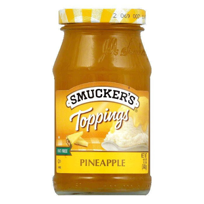 Smucker's Pineapple Topping, 12 OZ (Pack of 6)