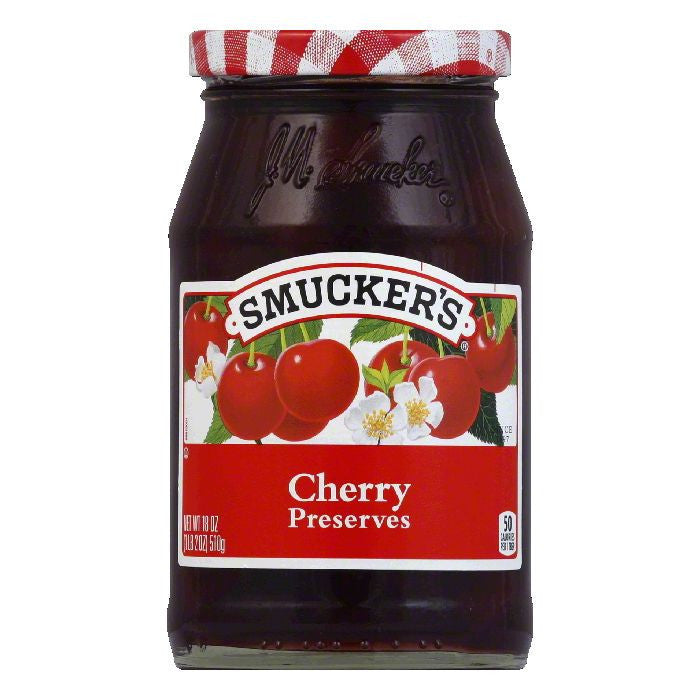Smucker's Cherry Preserves, 18 OZ (Pack of 6)