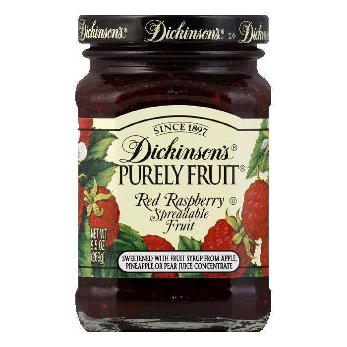 Dickinsons Red Raspberry Purely Fruit, 9.5 OZ (Pack of 6)