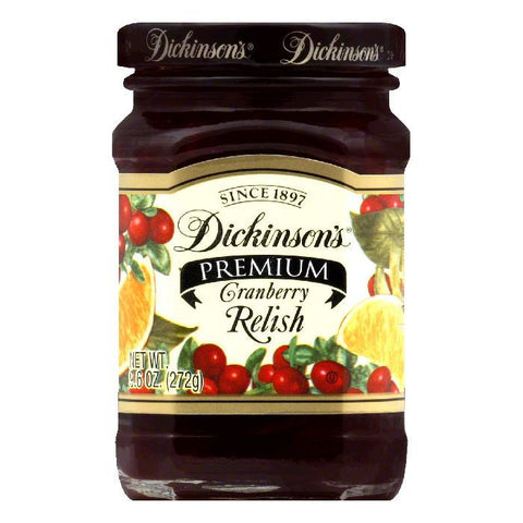 Dickinsons Relish Country Cranberry, 9.6 OZ (Pack of 6)
