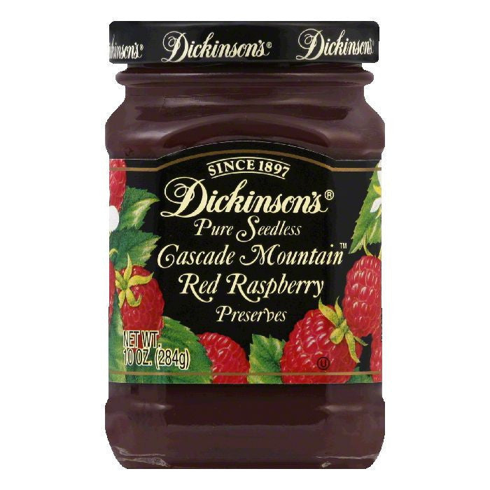 Dickinsons Red Raspberry Seedless Preserves, 10 OZ (Pack of 6)