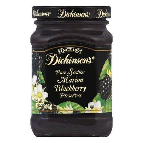 Dickinsons Blackberry Seedless Preserves, 10 OZ (Pack of 6)