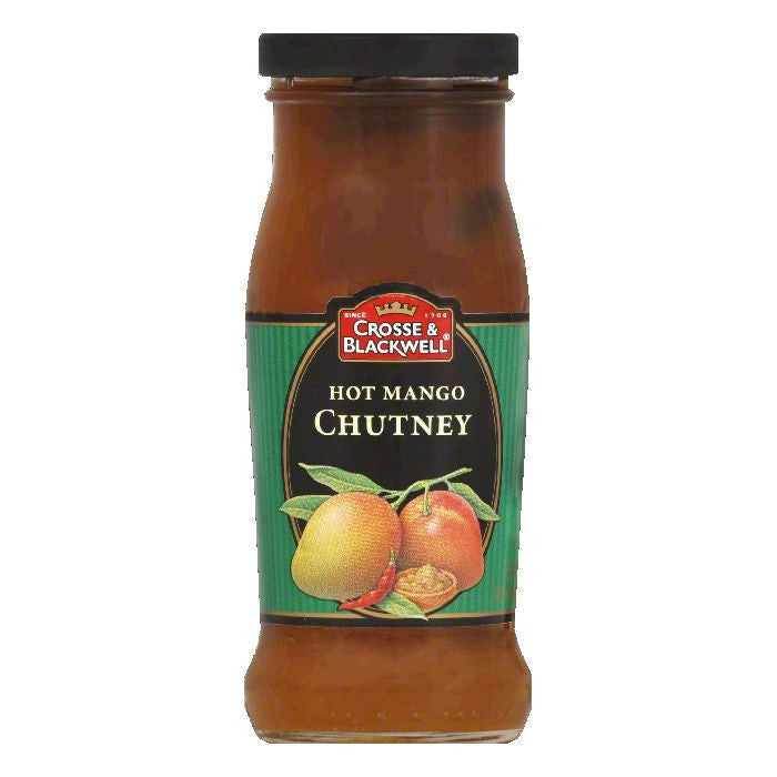 Crosse & Blackwell Chutney Hot Mango, 9 OZ (Pack of 6)