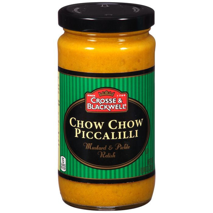 Crosse & Blackwell Chow Chow Piccalilli Mustard & Pickle Relish 9.34 Oz  (Pack of 6)