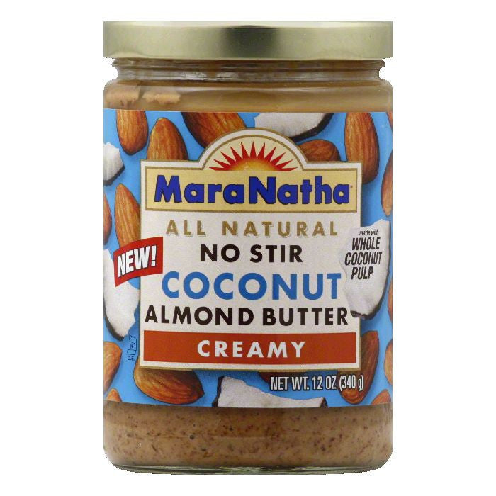 MaraNatha Coconut Creamy Almond Butter, 12 OZ (Pack of 12)