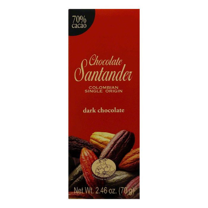 Santander Chocolate bar 70%, 2.5 OZ (Pack of 10)