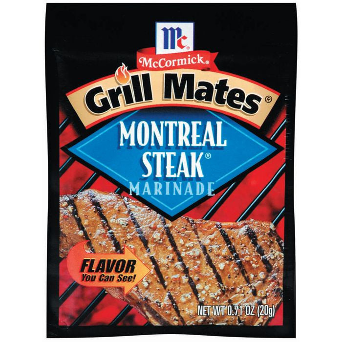 Marinades Montreal Steak Grill Mates Marinade Mix .71 Oz Packet (Pack of 12)