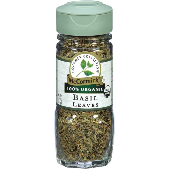 McCormick Gourmet Collection 100% Organic Basil Leaves 0.55 oz (Pack of 3)