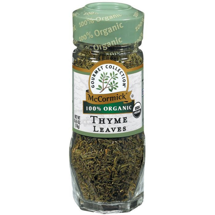 Gourmet Organic 100% Organic Thyme Leaves .65 Oz Shaker (Pack of 3)
