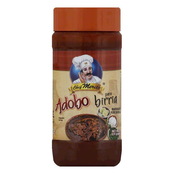 Chef Merito Adobo Birria, 18 OZ (Pack of 6)