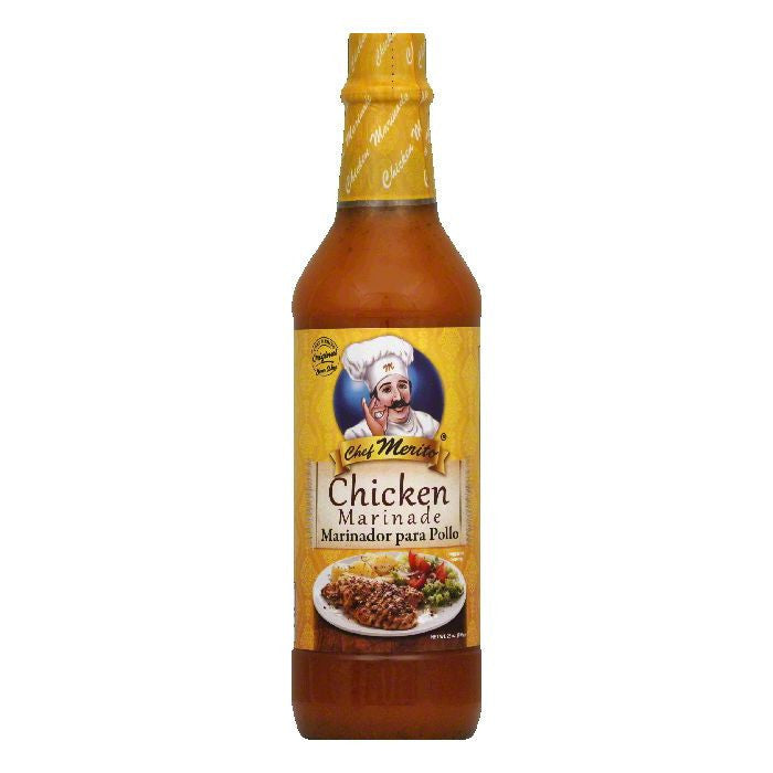 Chef Merito Chicken Marinade, 25 OZ (Pack of 12)