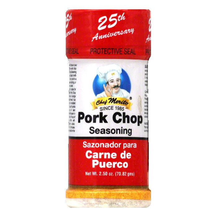 Chef Merito Pork Chop Seasoning, 2.5 Oz (Pack of 6)