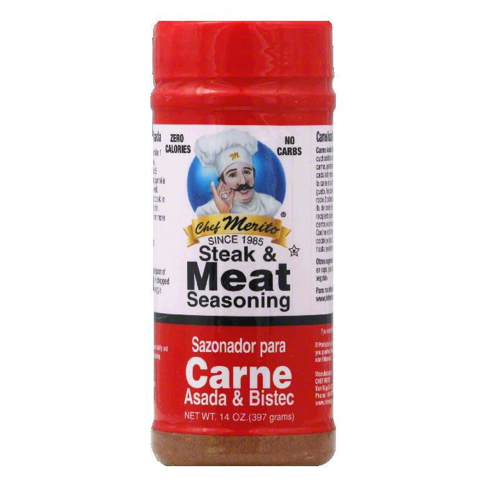 Chef Merito Carne Asada Seasoning, 14 OZ (Pack of 6)