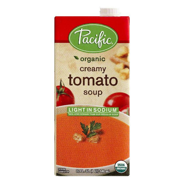 Pacific Light in Sodium Creamy Tomato Soup, 32 OZ (Pack of 12)