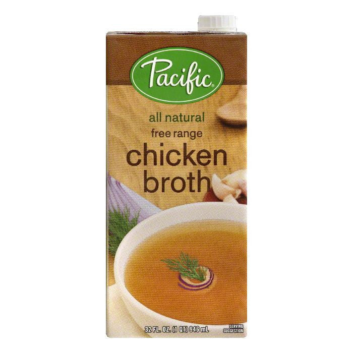 Pacific Free Range Chicken Broth, 32 OZ (Pack of 12)