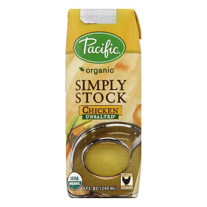 Pacific Unsalted Chicken Simply Stock, 8 Oz (Pack of 12)