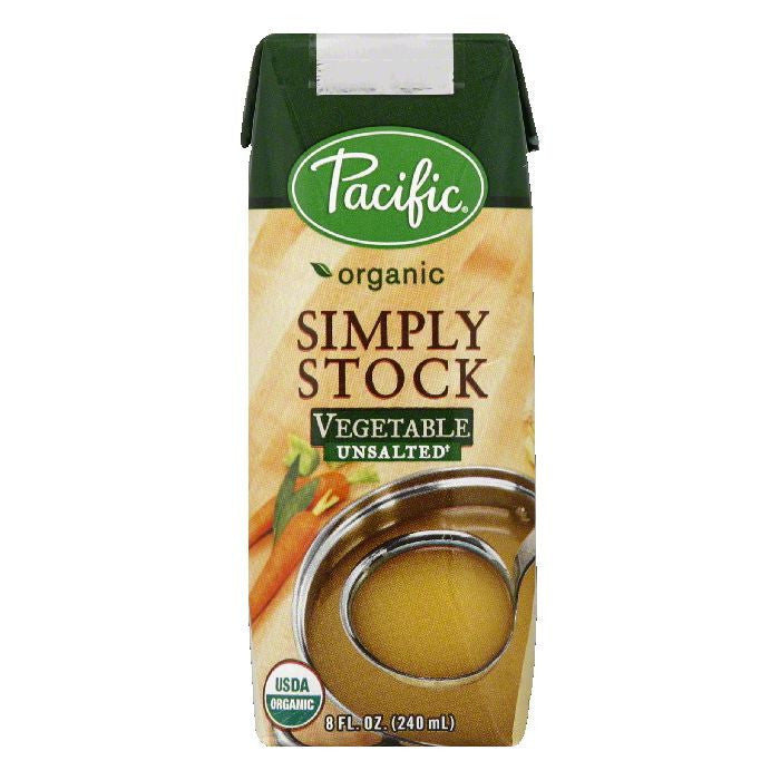 Pacific Unsalted Vegetable Simply Stock, 8 Oz (Pack of 12)