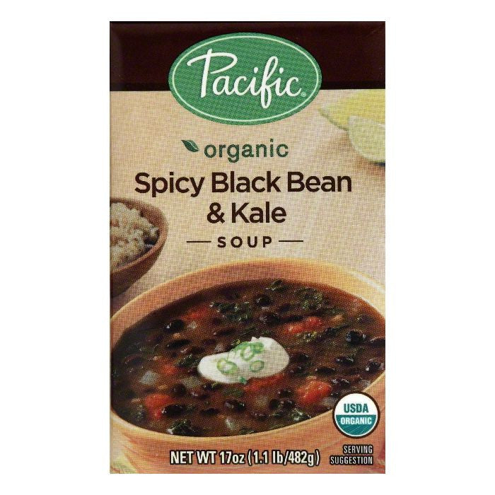 Pacific Spicy Black Bean & Kale Soup, 17 Oz (Pack of 12)