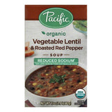 Pacific Reduced Sodium Vegetable Lentil & Roasted Red Pepper Soup, 17 Oz (Pack of 12)