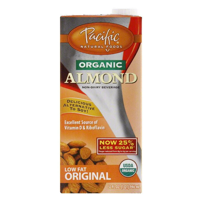 Pacific Foods Almond Beverage Original, 32 FO (Pack of 12)