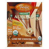Pacific Foods Beverages Naturally Almond Chocolate 4 pack, 32 FO (Pack of 6)