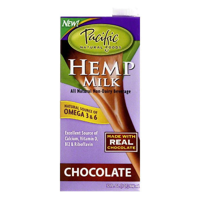 Pacific Natural Foods Chocolate Hemp Milk, 32 OZ (Pack of 12)