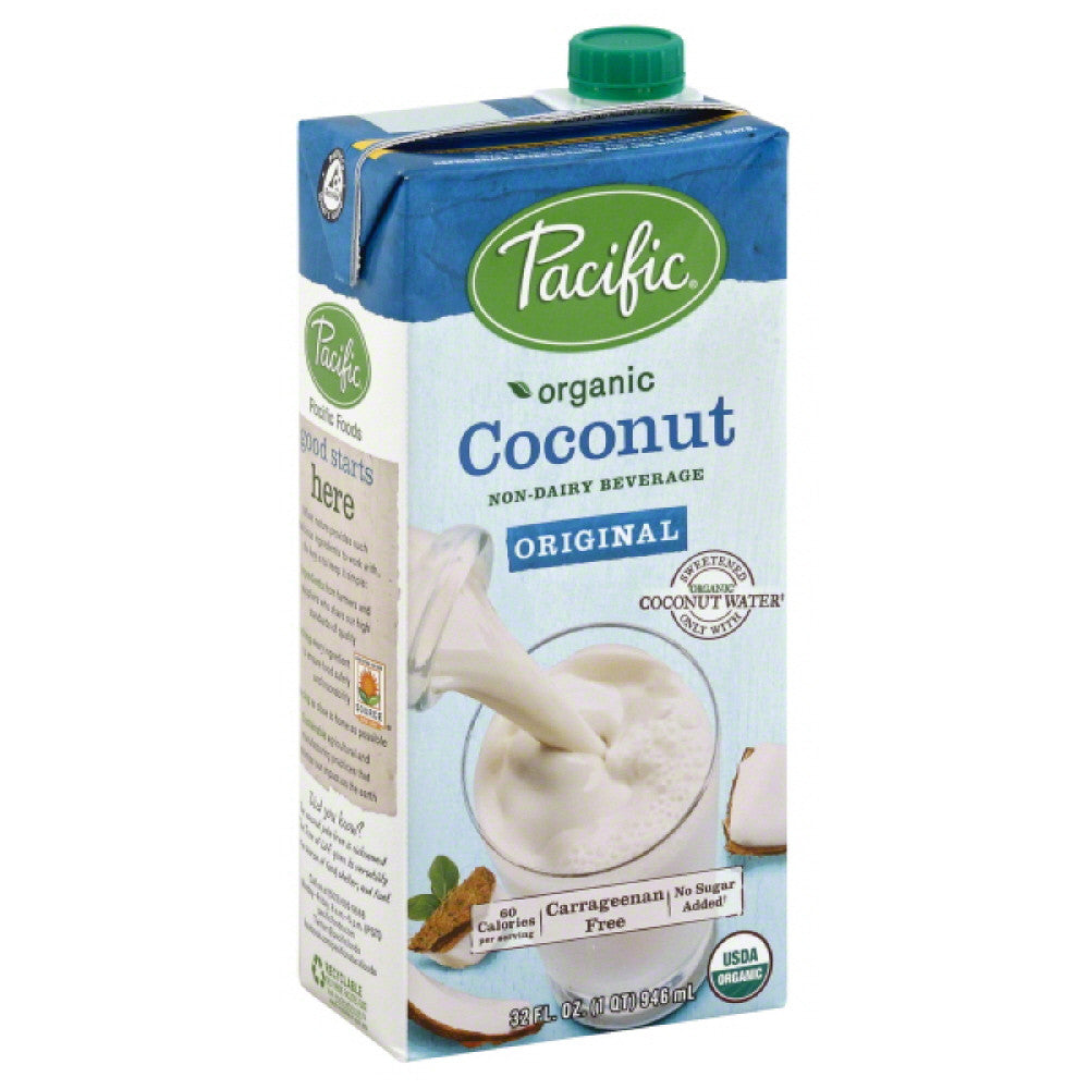 Pacific Original Coconut Non-Dairy Beverage, 32 Oz (Pack of 12)