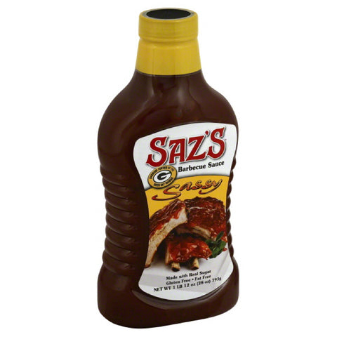 Sazs Sassy Barbecue Sauce, 28 Oz (Pack of 8)
