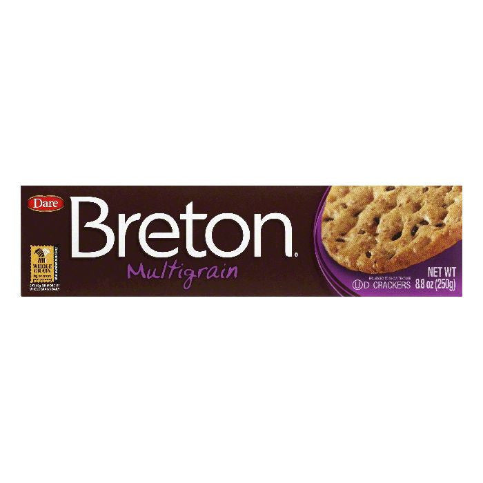 Dare Breton Crackers Multi-Grain, 8.8 OZ (Pack of 12)
