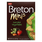 Dare Breton Crackers Minis Garden Vegetable, 8 OZ (Pack of 12)
