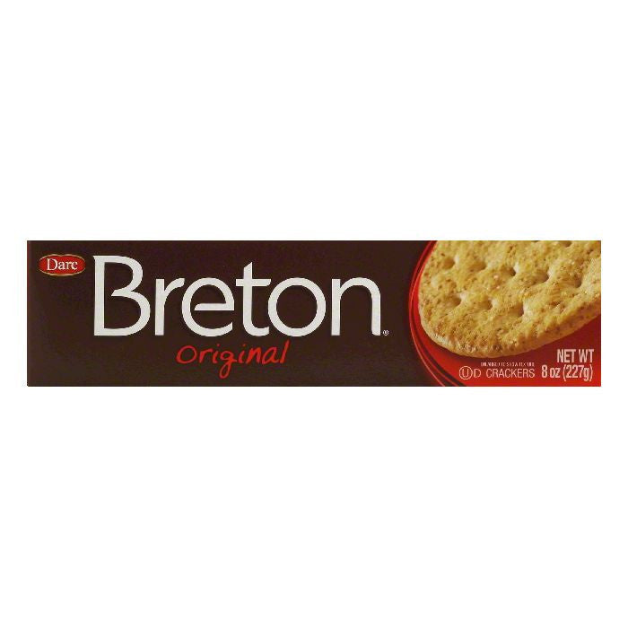 Dare Breton Crackers Wheat Thin, 8 OZ (Pack of 12)