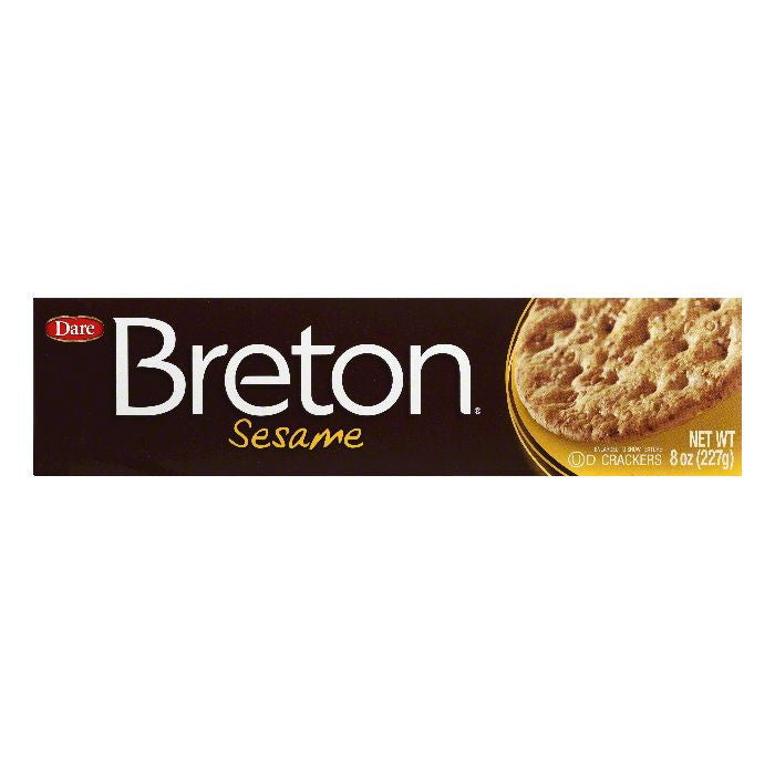 Dare Breton Crackers Sesame, 8 OZ (Pack of 12)