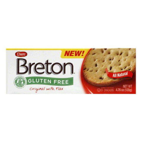 Dare Original Flax Breton Cracker, 4.76 OZ (Pack of 6)