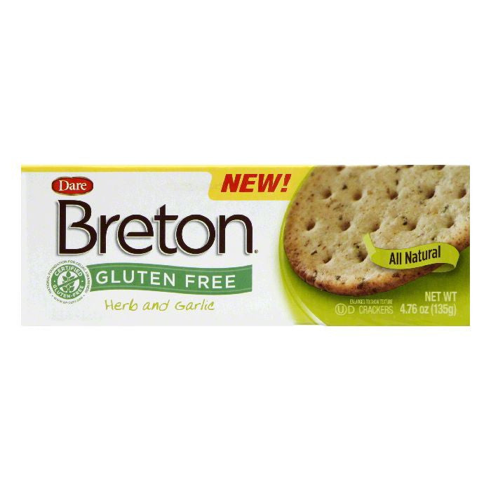Dare Herb Garlic Breton Cracker, 4.76 OZ (Pack of 6)