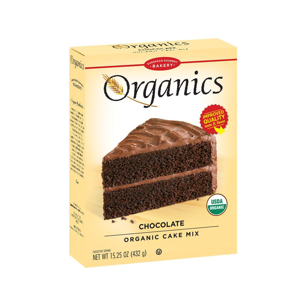 European Gourmet Bakery Chocolate Organic Cake Mix, 17.1 Oz (Pack of 12)