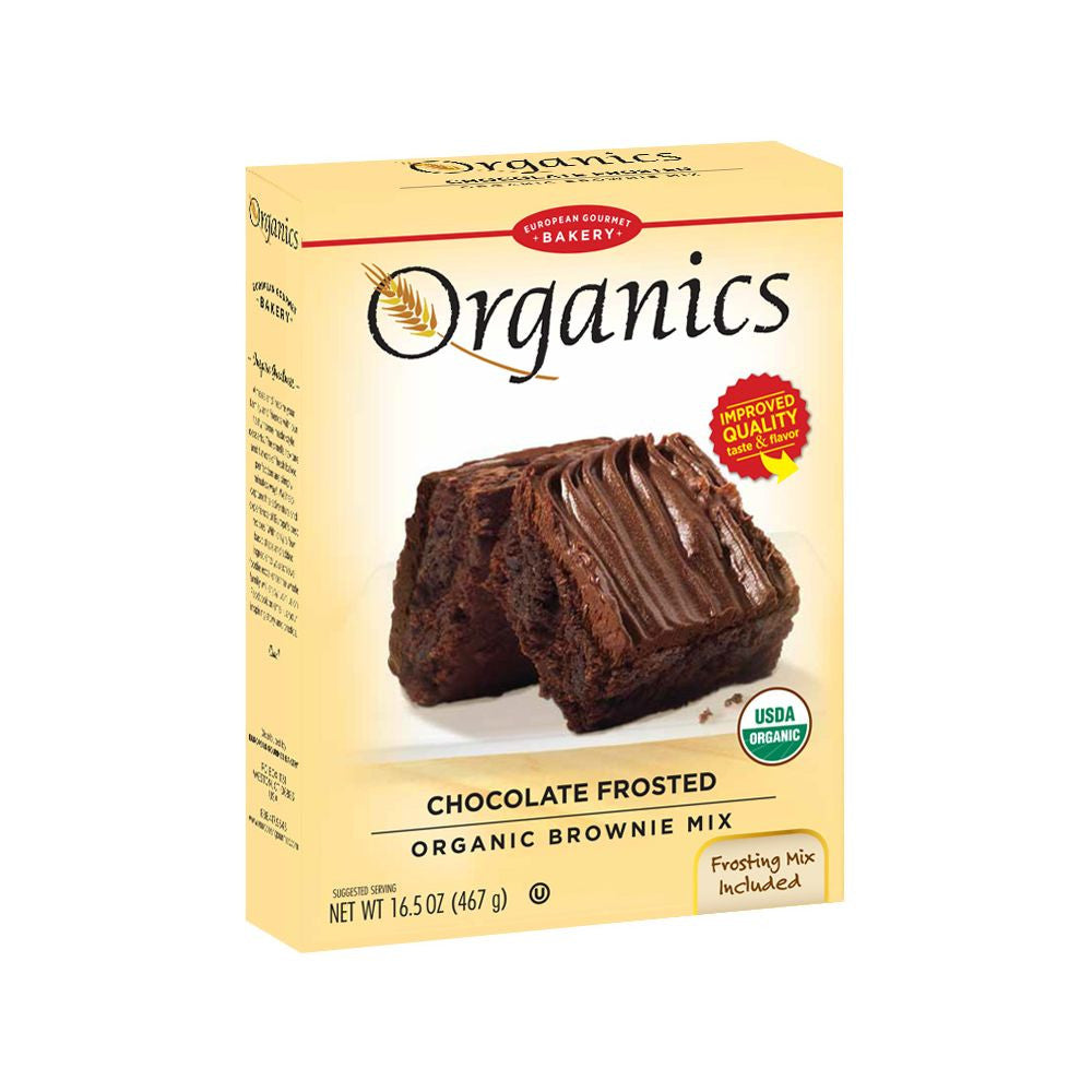 European Gourmet Bakery Organic Frosted Brownie, 16.5 Oz (Pack of 8)