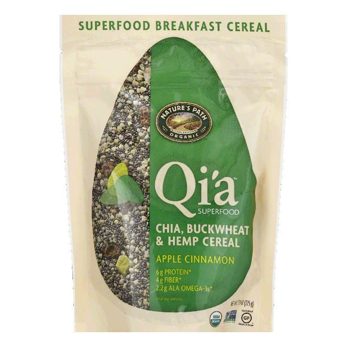 Natures Path Apple Cinnamon Buckwheat & Hemp Chia Qi'a Breakfast Cereal, 7.9 OZ (Pack of 10)