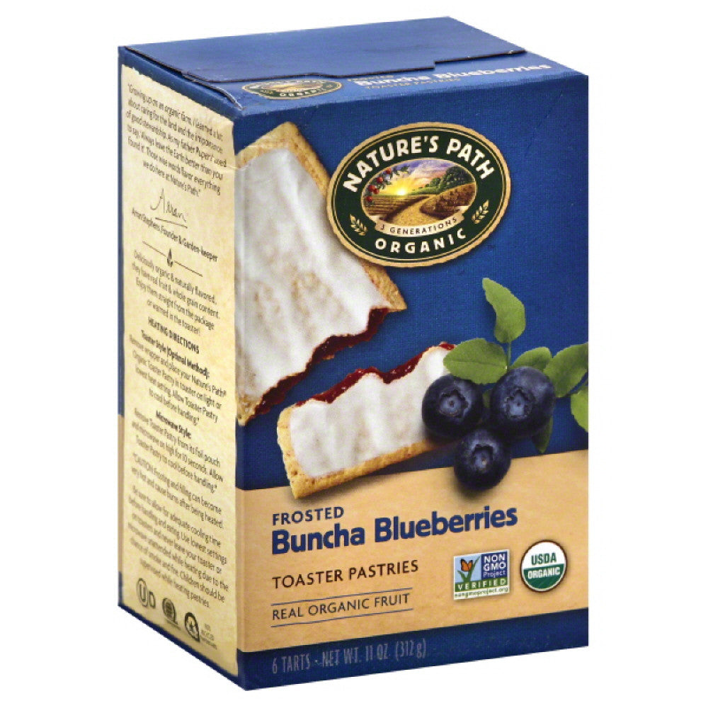 Natures Path Buncha Blueberries Frosted Toaster Pastries, 11 Oz (Pack of 6)