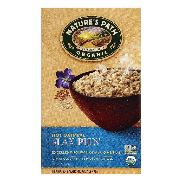Natures Path Flax Plus Hot Oatmeal, 8 ea (Pack of 6)