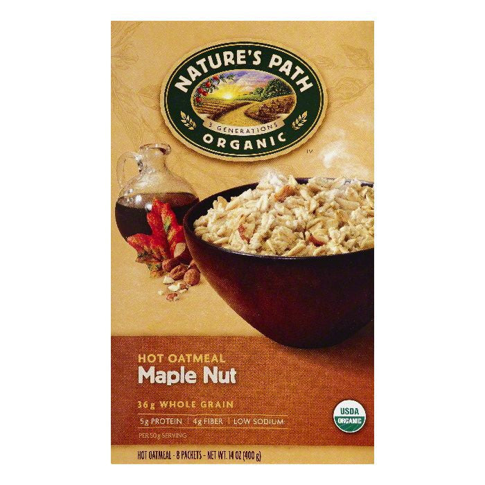 Natures Path Maple Nut Hot Oatmeal, 8 ea (Pack of 6)