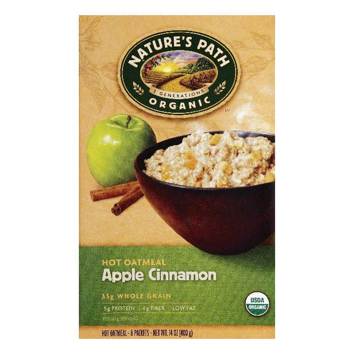 Natures Path Apple Cinnamon Hot Oatmeal, 8 ea (Pack of 6)