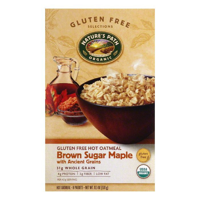 Natures Path with Ancient Grains Brown Sugar Maple Oatmeal, 11.3 Oz (Pack of 6)