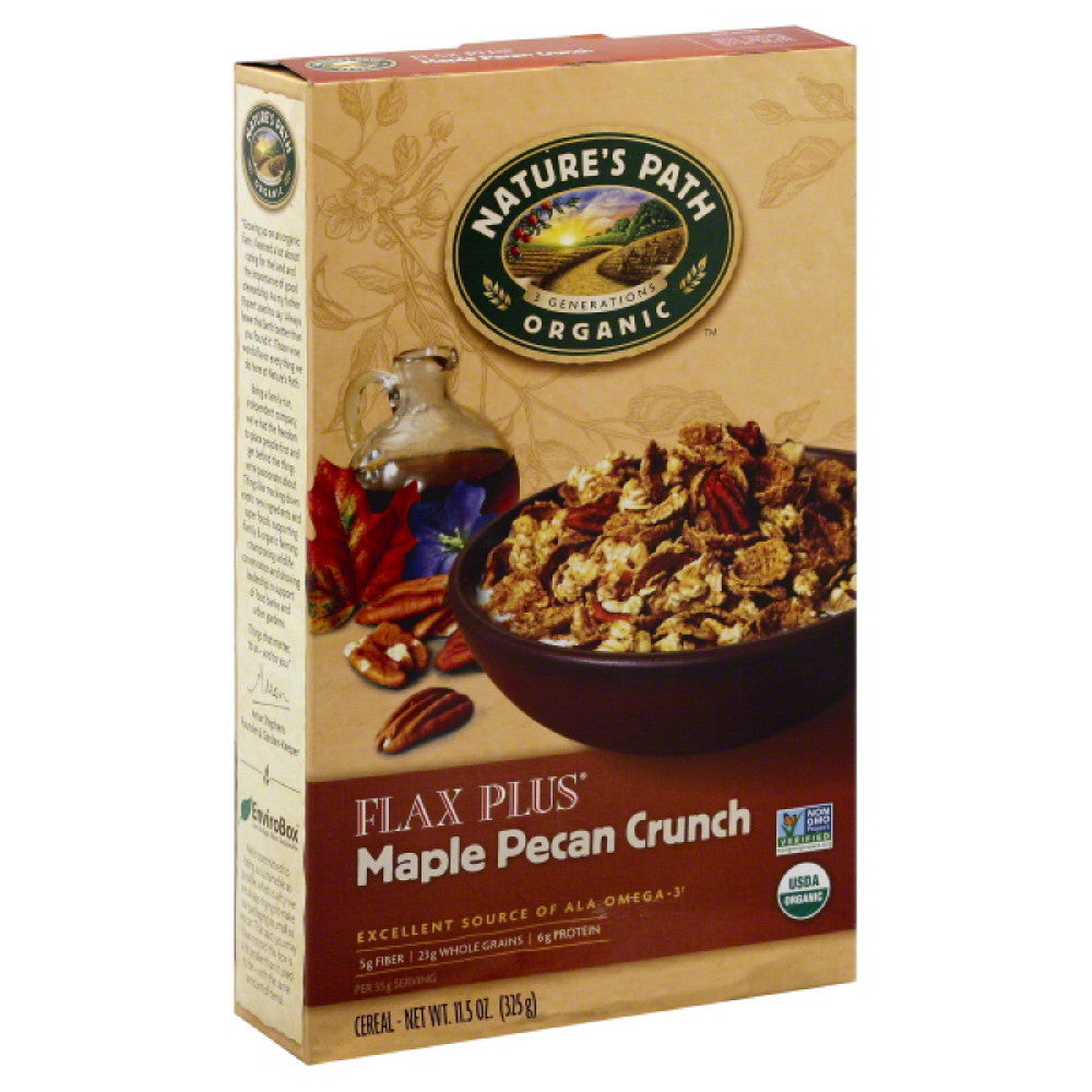 Natures Path Maple Pecan Crunch Cereal, 11.5 Oz (Pack of 6)