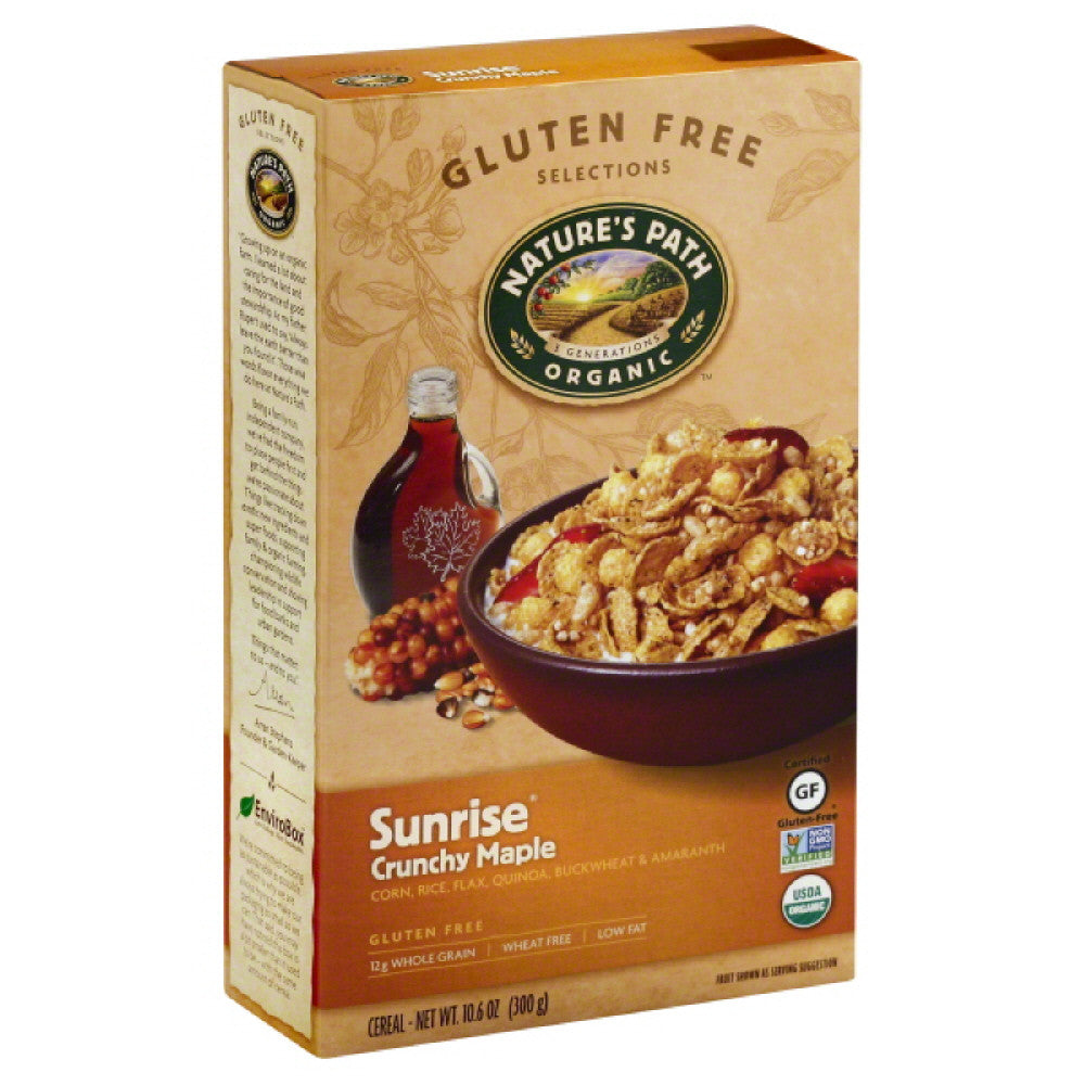 Natures Path Sunrise Crunchy Maple Cereal, 10.6 Oz (Pack of 6)