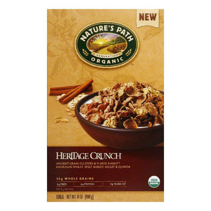 Natures Path Heritage Crunch Cereal, 14 Oz (Pack of 12)