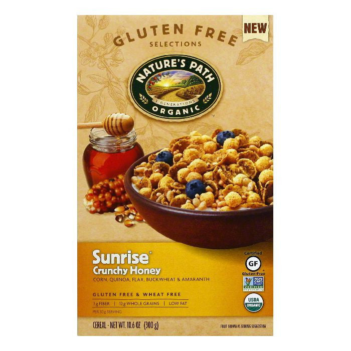 Natures Path Crunchy Honey Sunrise Cereal, 10.6 Oz (Pack of 6)