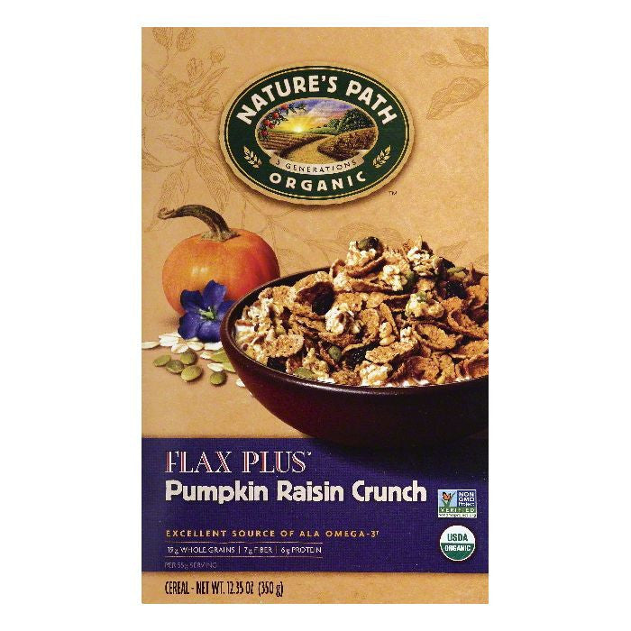 Natures Path Pumpkin Raisin Crunch Cereal, 12.35 OZ (Pack of 6)
