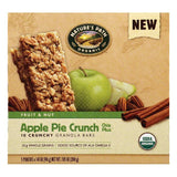 Natures Path Chia Plus Apple Pie Crunch Fruit & Nut Crunchy Granola Bars, 5 ea (Pack of 6)