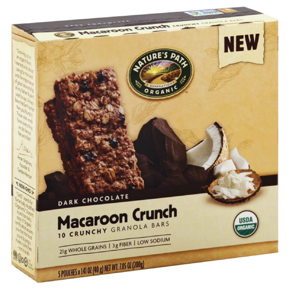 Natures Path Macaroon Crunch Crunchy Granola Bars, 7.05 Oz (Pack of 6)
