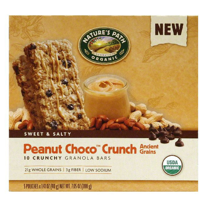 Nature's Path Crunchy Chocolate Granola Bar, 7.05 OZ (Pack of 6)